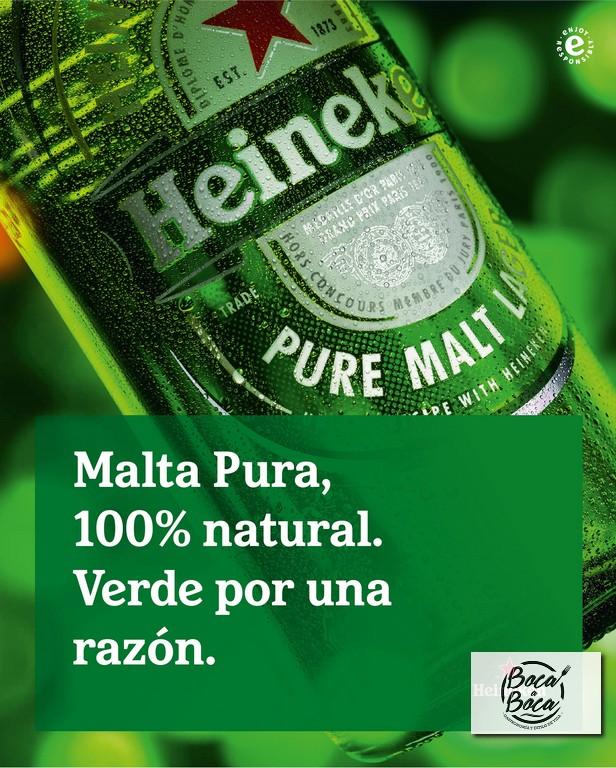 Cerveza Heineken revela el secreto de su fórmula  a base de Malta Pura
