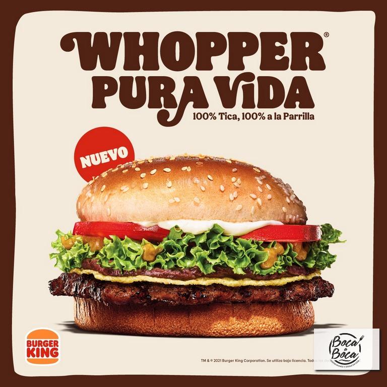 Burger King Costa Rica presenta el nuevo Whopper Pura Vida:  100% tico, 100% a la parrilla