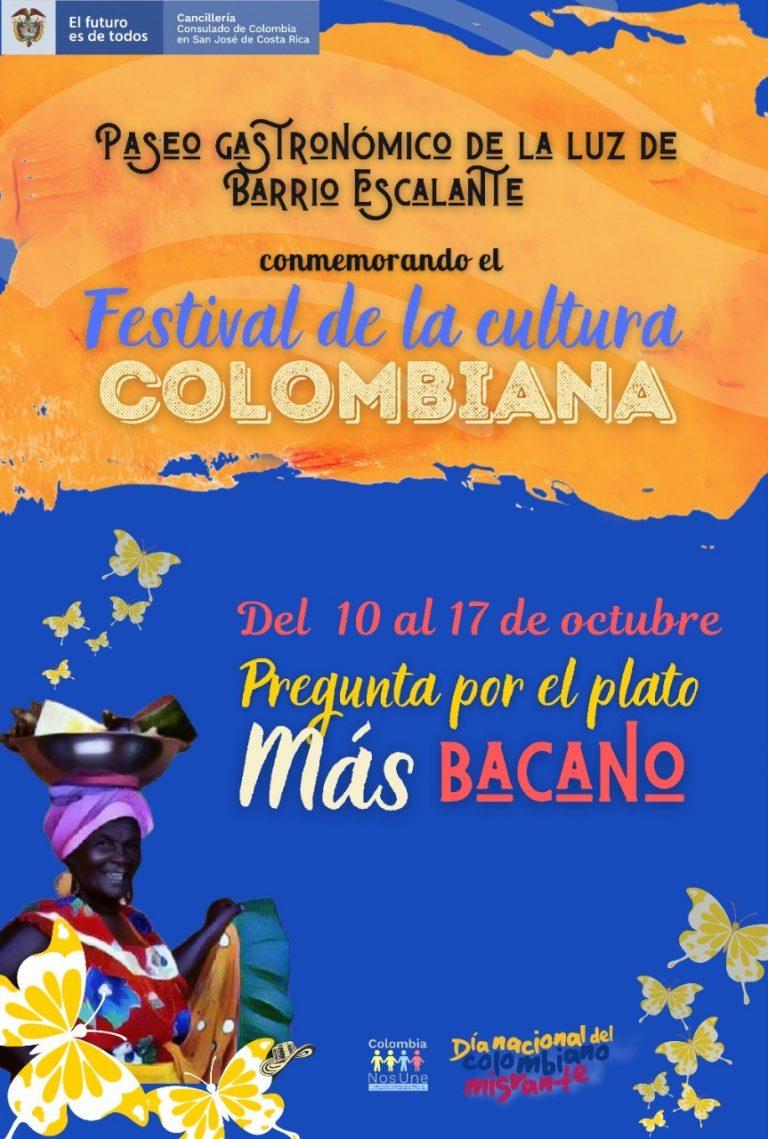Festival gastronómico colombiano llega a Barrio Escalante del 10 al 17 de octubre